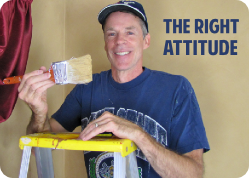 The right attitude for painting